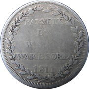 1 Shilling (Hampshire - Andover / Wakeford's) – reverse