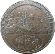 ½ Penny (Angusshire - Dundee / Infirmary) – reverse