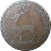 ½ Penny (Middlesex - Freedom with innocence / Rule Britannia) -  obverse