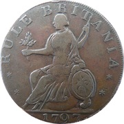 ½ Penny (Middlesex - Freedom with innocence / Rule Britannia) -  reverse
