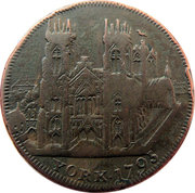 ½ Penny (Yorkshire – York / Clifford's Tower) – obverse