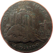 ½ Penny (Yorkshire – York / Clifford's Tower) – reverse