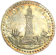 1 Shilling (Devon - Morgan's / Eddystone Lighthouse) – obverse
