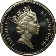1 Pound - Elizabeth II (3rd portrait; Northern Irish Flax) -  obverse