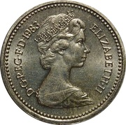 1 Pound - Elizabeth II (2nd portrait; Royal Arms) -  obverse
