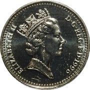 1 Pound - Elizabeth II (3rd portrait; Celtic Cross) -  obverse