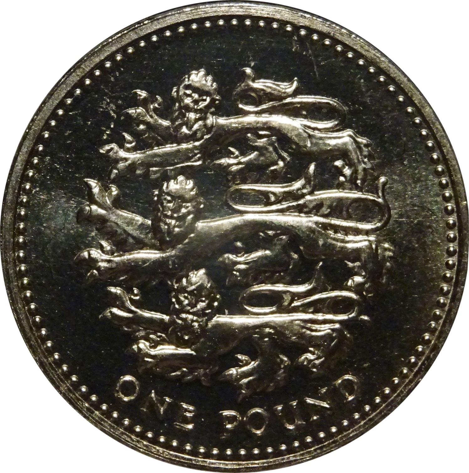 1 Pound - Elizabeth II (5th portrait; Nations of the Crown