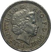 1 Pound - Elizabeth II (4th portrait; English Lions) -  obverse