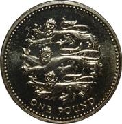 1 Pound - Elizabeth II (4th portrait; English Lions) -  reverse