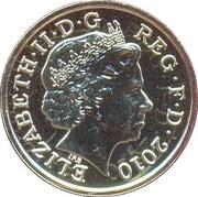 1 Pound - Elizabeth II (4th portrait; Belfast) -  obverse