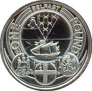 1 Pound - Elizabeth II (4th portrait; Belfast) -  reverse