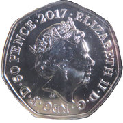 50 Pence - Elizabeth II (5th portrait; Peter Rabbit) -  obverse