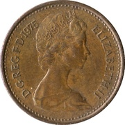 ½ New Penny - Elizabeth II (2nd portrait) -  obverse