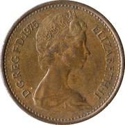 ½ New Penny - Elizabeth II (2nd portrait) -  obverse