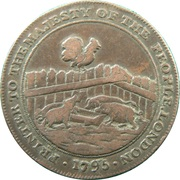 ½ Penny (Middlesex - D I Eaton) – reverse