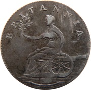 6 Pence (Not Local - Britannia on cannon) – reverse