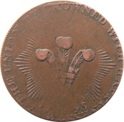 ½ Penny (Middlesex - National Series / Princess of Wales) – reverse