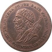 ½ Penny (Somerset - Bath / F. Heath) – obverse