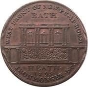 ½ Penny (Somerset - Bath / F. Heath) – reverse