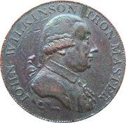 ½ Penny (Warwickshire – Wilkinson / Forge) – obverse