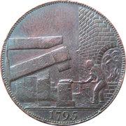 ½ Penny (Warwickshire – Wilkinson / Forge) – reverse