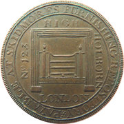 ½ Penny (Middlesex - Skidmore) – obverse