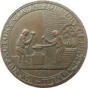 ½ Penny (Middlesex - Skidmore) – reverse