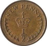 ½ New Penny - Elizabeth II (2nd portrait) -  reverse
