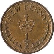½ New Penny - Elizabeth II (2nd portrait) -  reverse