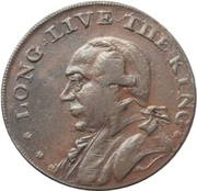 ½ Penny (Middlesex – Whitfield's / Long Live The King) – obverse