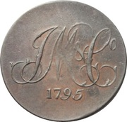 ½ Penny (Middlesex – Whitfield's / Long Live The King) – reverse