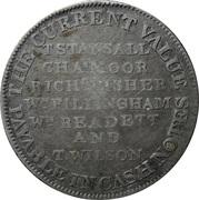 1 Shilling (Nottingham - Newark / Town Hall) – reverse