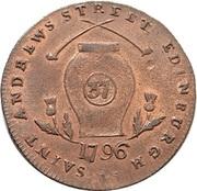 ½ Penny (Lothian - Edinburgh / Campbell's) – reverse