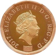 1 Pound - Elizabeth II (Nations of the Crown; Gold Proof) -  obverse