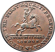 ½ Penny (Middlesex - Lyceum) – obverse