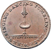 ½ Penny (Middlesex - Lyceum) – reverse