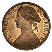 1 Penny - Victoria (2nd portrait) -  obverse