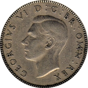 1 Shilling - George VI (Scottish crest; with 'IND:IMP') -  obverse