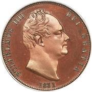 ½ Penny - William IV – obverse