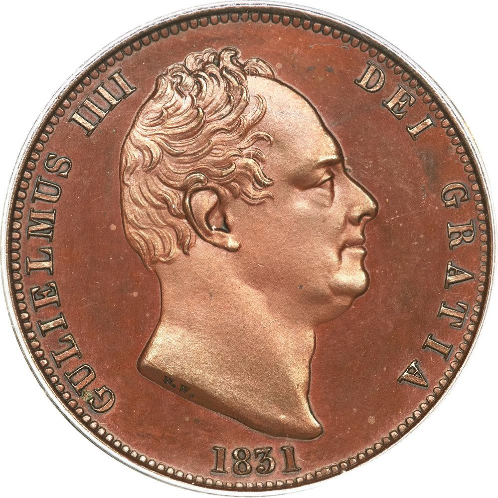 ½ Penny - William IV