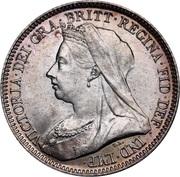 6 Pence - Victoria (3rd portrait) -  obverse
