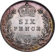 6 Pence - Victoria (3rd portrait) -  reverse