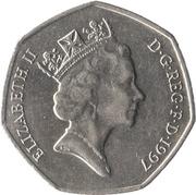 50 Pence - Elizabeth II (3rd portrait; large type) -  obverse