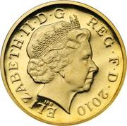 1 Pound - Elizabeth II (4th portrait; Royal Shield) -  obverse