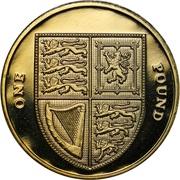 1 Pound - Elizabeth II (4th portrait; Royal Shield) -  reverse