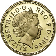 1 Pound - Elizabeth II (4th portrait; Royal Arms) -  obverse