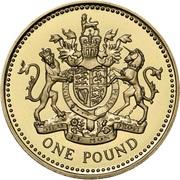 1 Pound - Elizabeth II (4th portrait; Royal Arms) -  reverse