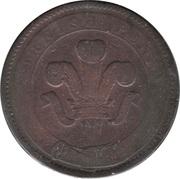1 Penny (Cornwall - Scorrier House) – reverse