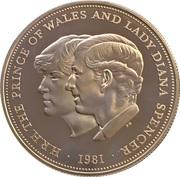 25 New Pence - Elizabeth II (Royal Wedding; Silver Proof) -  reverse