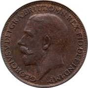 1 Farthing - George V -  obverse
